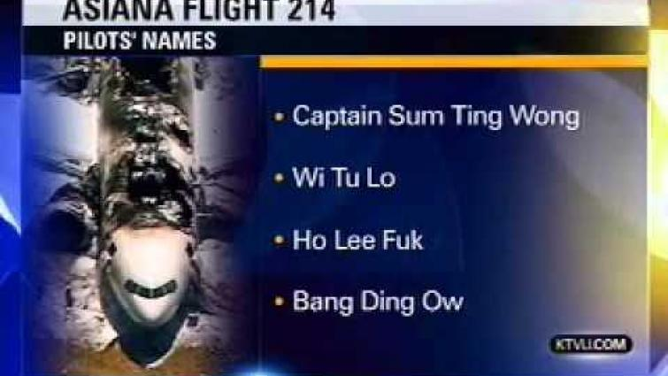 KTVU news anchor gets pranked by NTSB on Asiana Flight 214 pilot names (Real Live News Broadcast)